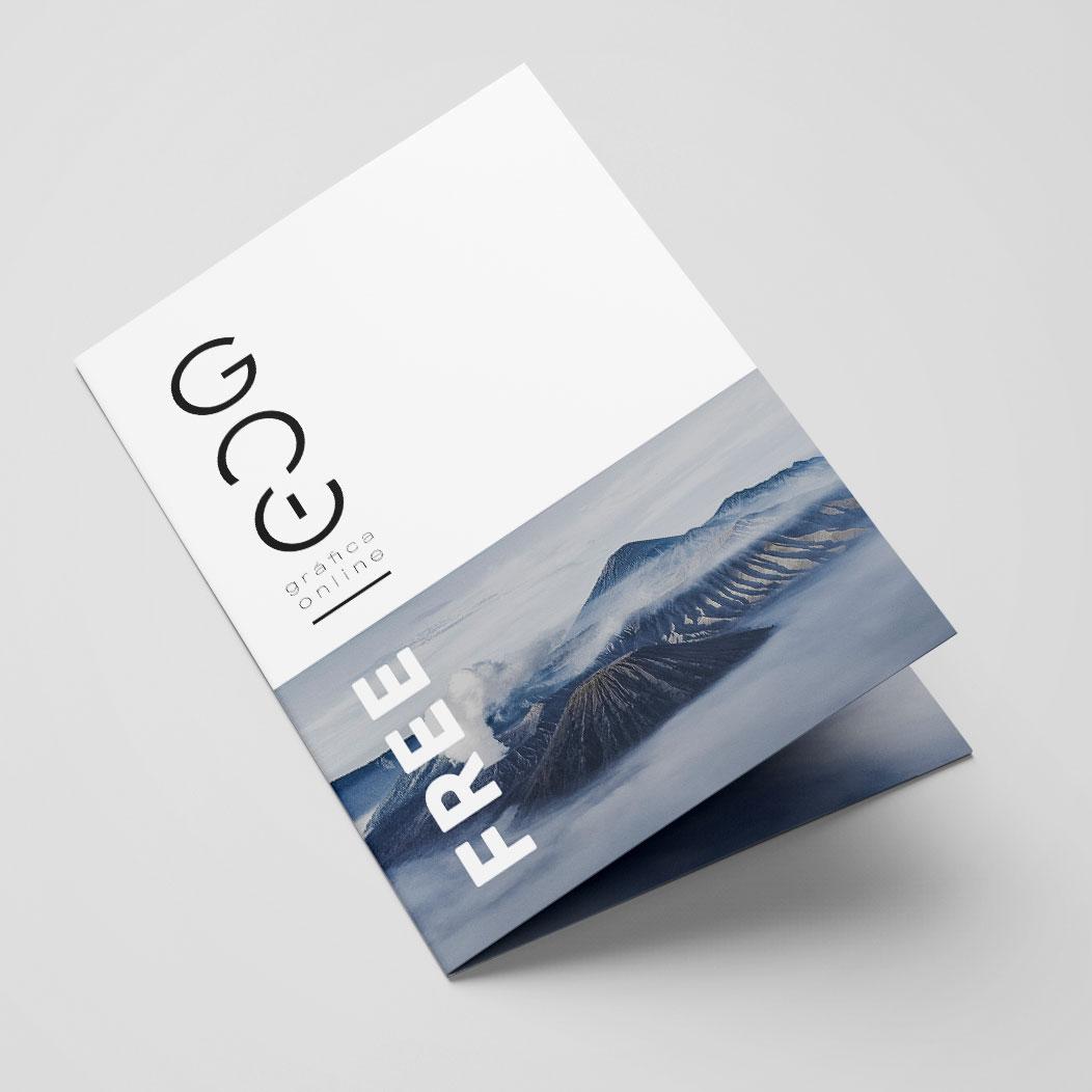 100 folhetos diptico A5